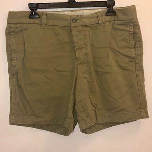 J. Crew Olive Green Bermuda Shorts